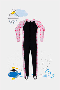 Buy Zivame Kids Swim Colour-Block Bodysuit - Hot Floral Pink