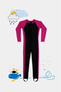 Buy Zivame Kids Swim Colour-Block Bodysuit - Hot Pink