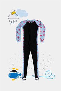Buy Zivame Kids Swim Colour-Block Bodysuit - Sky Blue