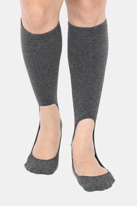 Buy Zivame Calf Length Socks - Dark Grey