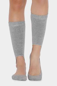 Buy Zivame Calf Length Socks - Light Grey