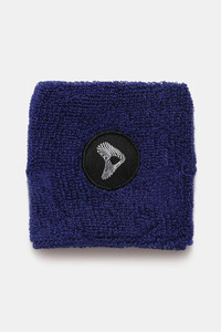 Buy Zelocity Terry Cotton Wrist Band - Navy