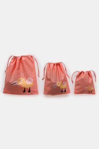 Buy Zivame Travel Pouch (Pack Of 3) - Coral