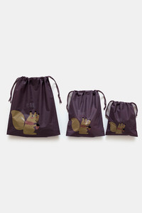 Buy Zivame Travel Pouch (Pack Of 3) - Purple
