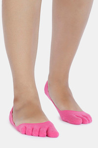 Buy Zivame Anti Slip No Show Invisible Socks - Dk Pink