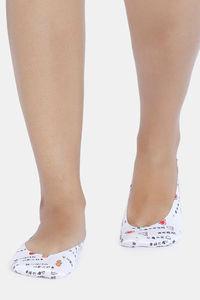 Buy Zivame Printed Shoe Liner - White Pt