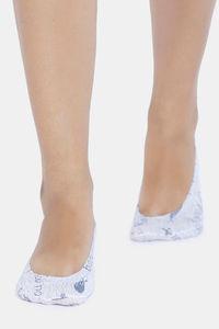 Buy Zivame Printed Shoe Liner - Grey Pt
