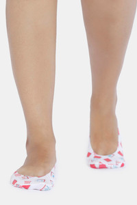 Buy Zivame Printed Shoe Liner - Pink Pt