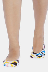 Buy Zivame Printed Shoe Liner - White Abstract Pt