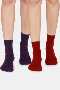 Buy Zivame Ankle Socks (Pack of 2) - Medivel Blue Rose Red