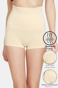 Buy Zivame Tummy Control Midwaist Boyshort Panty - Skin