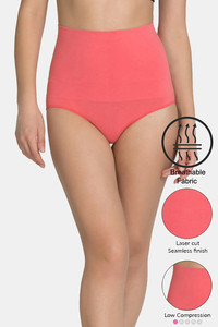 Buy Zivame Tummy Control Midwaist Hipster Panty - Coral