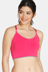 Buy Zivame At Home Double Layered Non Wired 3/4th Coverage Sleep Bra-Red