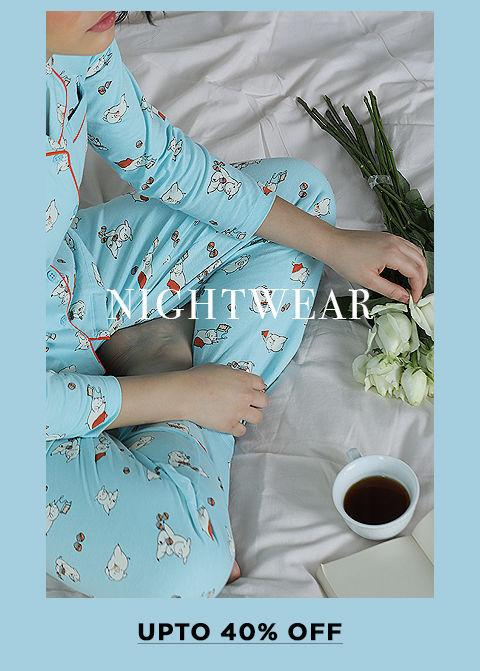 Lingerie Fest - Rect - Sleepwear Upto 40% Off