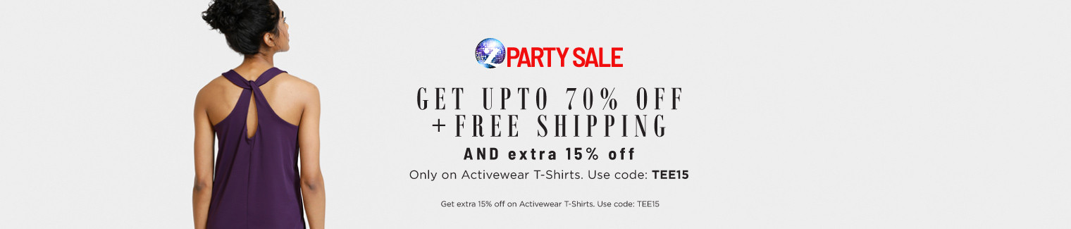 activewear t shirts extra 15 off