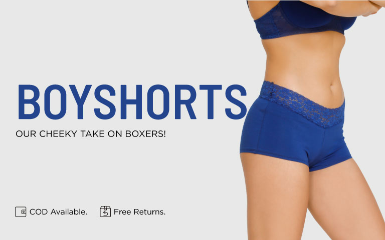 989bdf5a6f1f Boyshorts - Buy Boyshort Panties for Women Online | Zivame