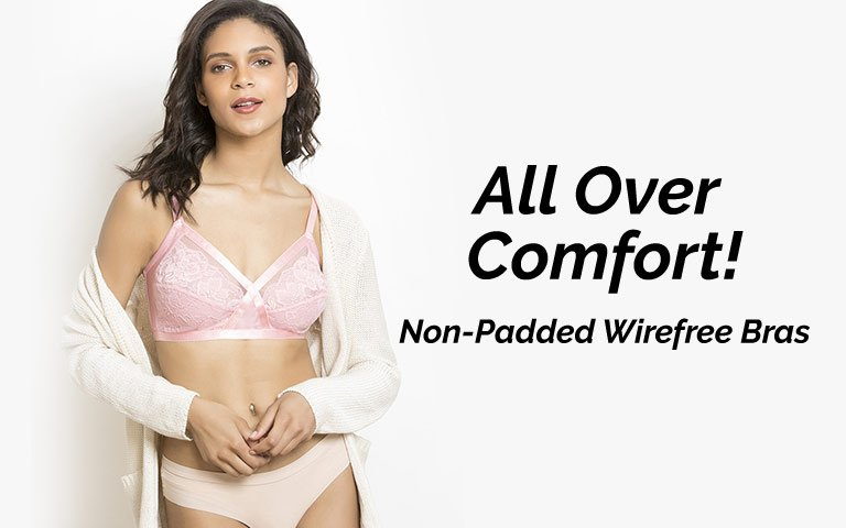 c55998178dfa3 Non Padded Wirefree Bra for Women Online at Best Price