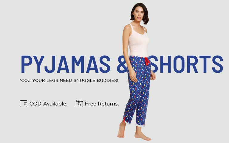 e5a56836bf Pajamas - Buy Ladies Pajamas & Night Pants Online | Zivame