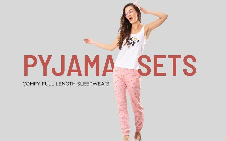 LADIES WOMENS GIRLS SATIN PJ PYJAMA SETS NIGHTWEAR VEST TOP PJ/'S 2 PC SET