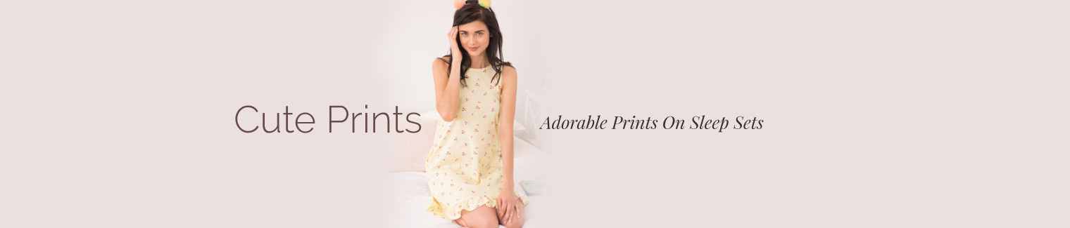 sleepwear cute prints
