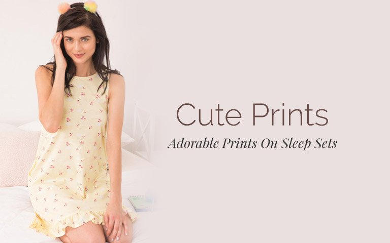 Cute Prints Night Dresses for Women Online in India  283abe5ea5