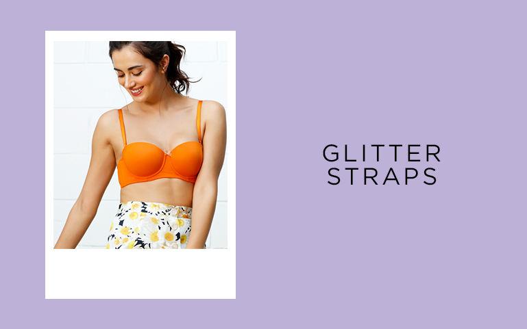Glitter Straps Bras