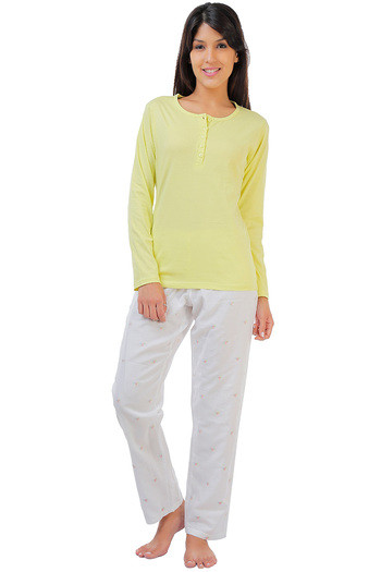 Buy Zivame Dreamwear Fine Cotton Top With Embroidered Pyjama Set-Lime at  Rs.1756 online  cad774a4f