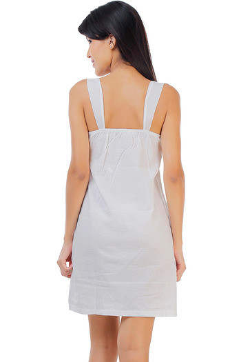 e56036e15d Buy Zivame Dreamwear Fine Cotton Embroidered Soft Nightdress-White ...
