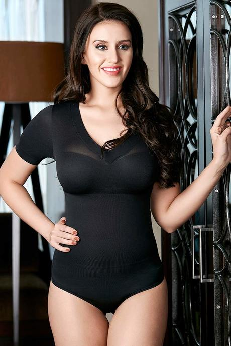 Buy Zivame Medium Control No Leg Bodysuit With Bust- Black at Rs.963 ... 46aa40e64