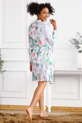 f6eba0318d Buy Zivame After Hours Cotton Floral Printed Sleep Robe- White at Rs ...
