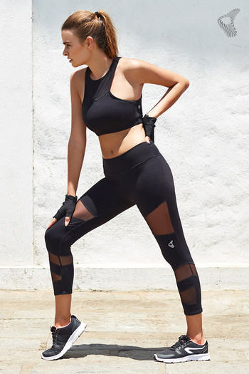 model image of Zelocity AlphaSculpt Power Mesh Legging- Black
