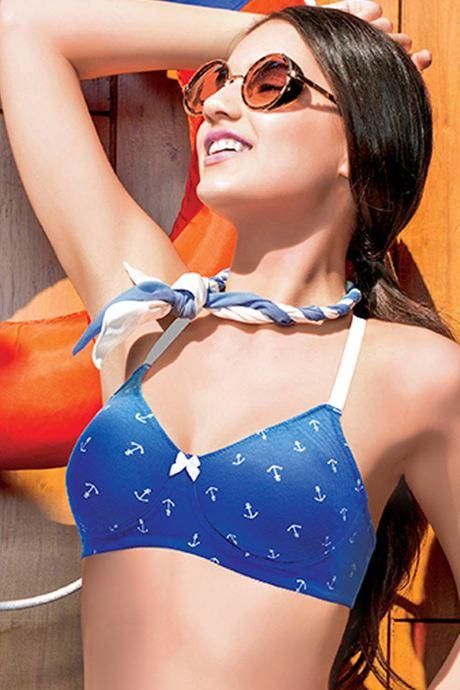 Enamor Anchor Allure High Coverage Bra- Blue