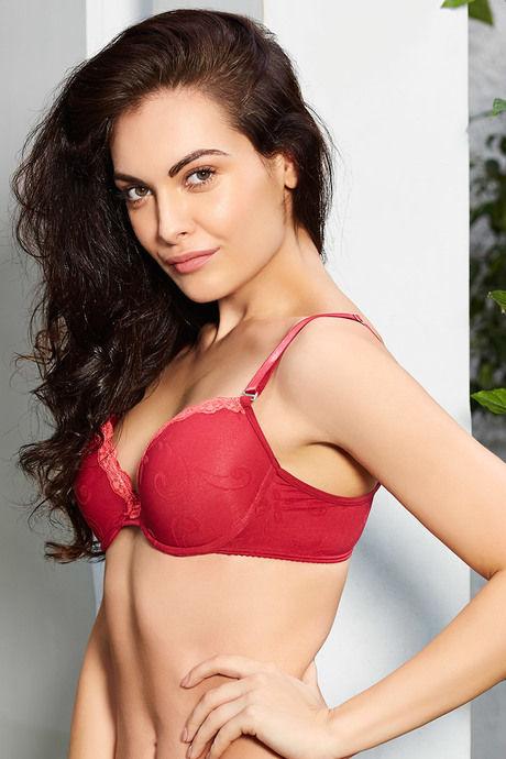 972deb20dbf1b Buy Zivame Bridal Padded Plunge Bra- Dark Red at Rs.1047 online ...
