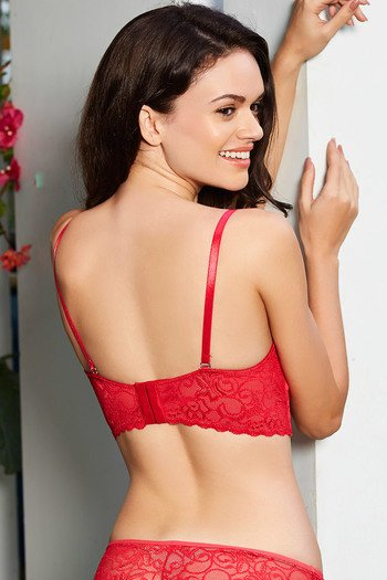 82cbbc0a89d1b Buy Zivame Lace Embrace Strapless Long Line Push Up Bra- Red at Rs ...