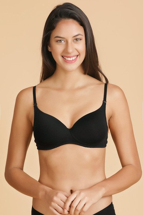 27279b015d378 Buy Enamor Molded Padded Transparent Back Saree Bra-Black at Rs.725 ...