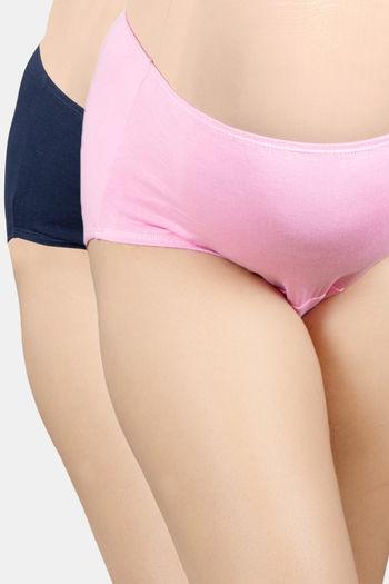 Adira Pack Of 2 Maternity Panties   Navy Blue Light Pink