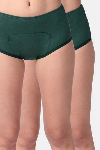 Adira Pack of 2 Period Boxer Green