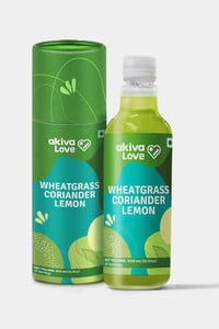 Buy Akiva Wheatgrass Lemon Coriander Juice Concentrated For Blood Detox - (500 ML Pack Of 1) - Dark Green
