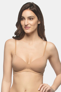 Buy Amante Carefree Casuals Padded Non-Wired T-shirt Bra - Sandalwood