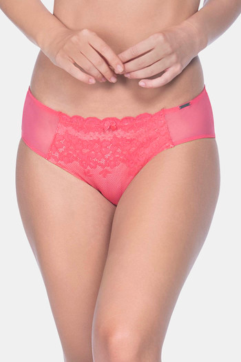 model image of Floral Cocktail Bikini Panty - Pink