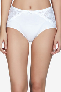 Buy Amante Cotton Lace Full Brief - White
