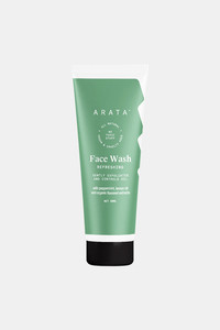 Buy Arata Natural Refreshing Face Wash With Peppermint, Lemon oil & Organic Flaxseed | All-Natural, Vegan & Cruelty-Free | Gently Exfoliates & Controls Oil For Men & Women - (50 ML)