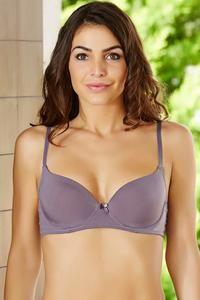 070dff624561b Buy Zivame Wear Me Everyday Sweetheart Neckline T-Shirt Bra- Grey at ...