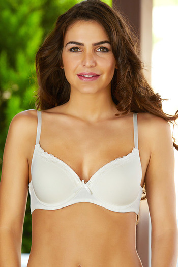 d284ec2128 Buy Zivame Beautiful Neckline No Show Padded Bra- Ivory at Rs.627 online