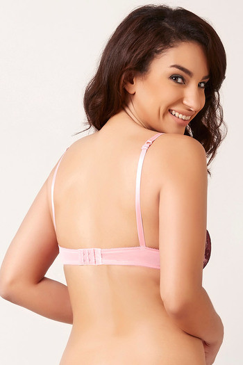 e5ee60a8db588 Buy Zivame Cuppa Contrast Moderate Pushup Bra-Pink at Rs.697 online ...