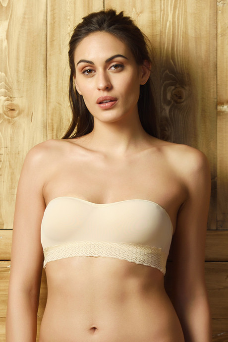 743555e131a33 Buy Zivame Strapless Push-Up Balconette Bra - Beige at Rs.697 online ...