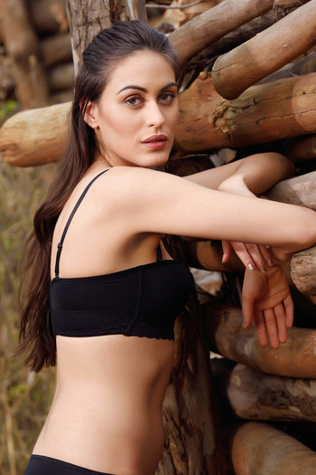 7af7b4a6e0a36 Buy Zivame Strapless Push-Up Balconette Bra - Black at Rs.697 online ...
