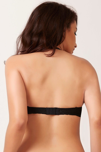768cc0473 Buy Zivame High Neck Cage Strapless Gentle Smooth Push Up Bra-Black ...