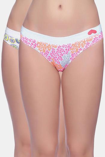 Brag Mid Rise Bikini Panty  Pack Of 2    Pink White