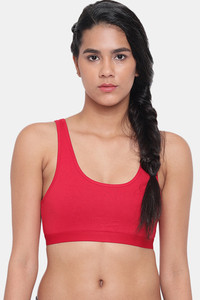 Buy Brag Teens Removable Cookie Wirefree Bra - Red